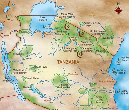 mapa-parques-tanzania